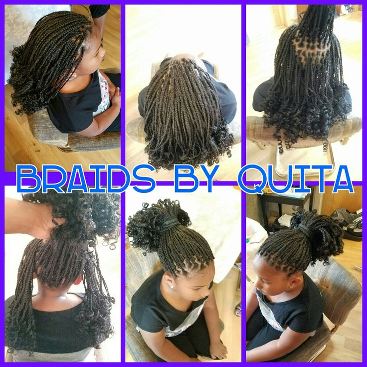 Little Girl S Box Braids With Curly Ends Little Girl