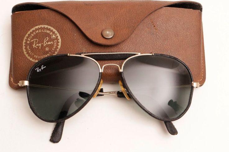 Rayban Aviator Leathers Black ,with Case,L,Black Lenses #RayBan #Aviator