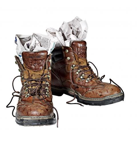Dry Your Boots With Newspaper