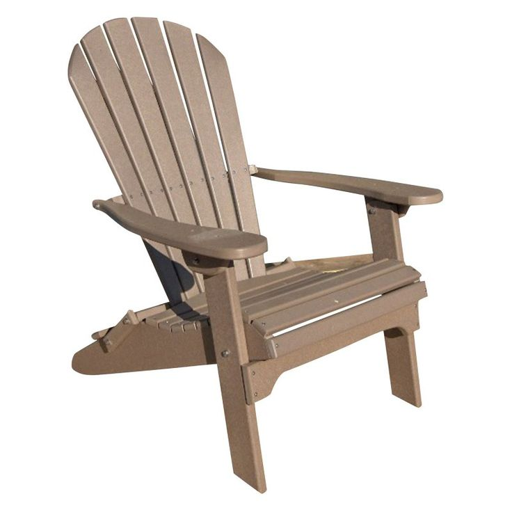 Phat Tommy, Outdoor  Recycled Plastic Folding Adirondack Chair Weather - 701-ADIRONPOLY.WEATHER