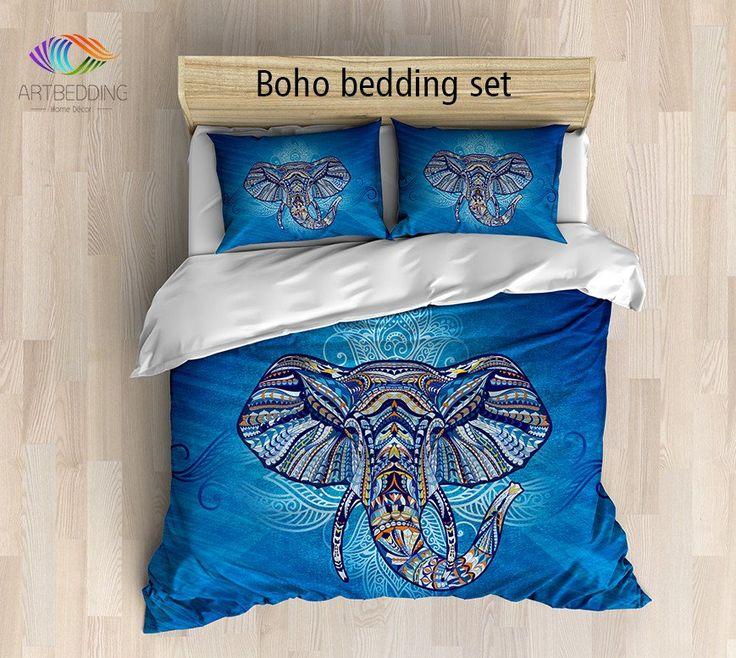 elephant bedding bohemian queen king full twin duvet cover set elephant