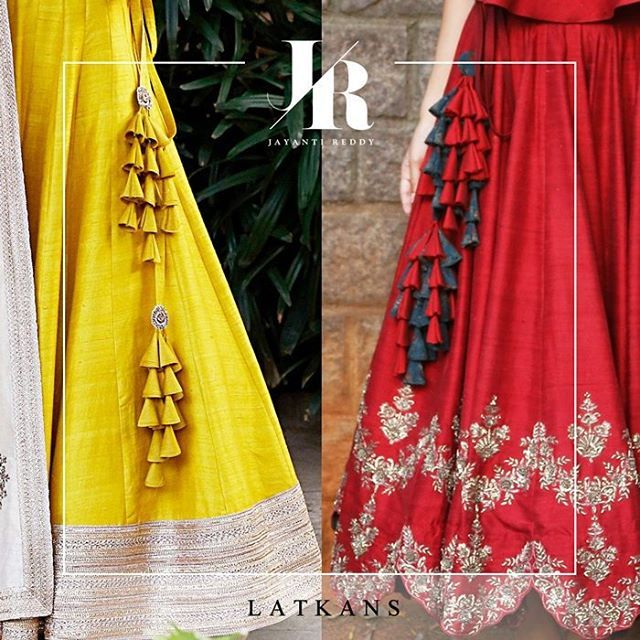 Long latkans or tassels add a touch of style and glamour to the outfit enhancing its beauty!  #JayantiReddy #jayantireddylabel #hyderabad #hyderabaddesigner #highendfashion #understated #elegance