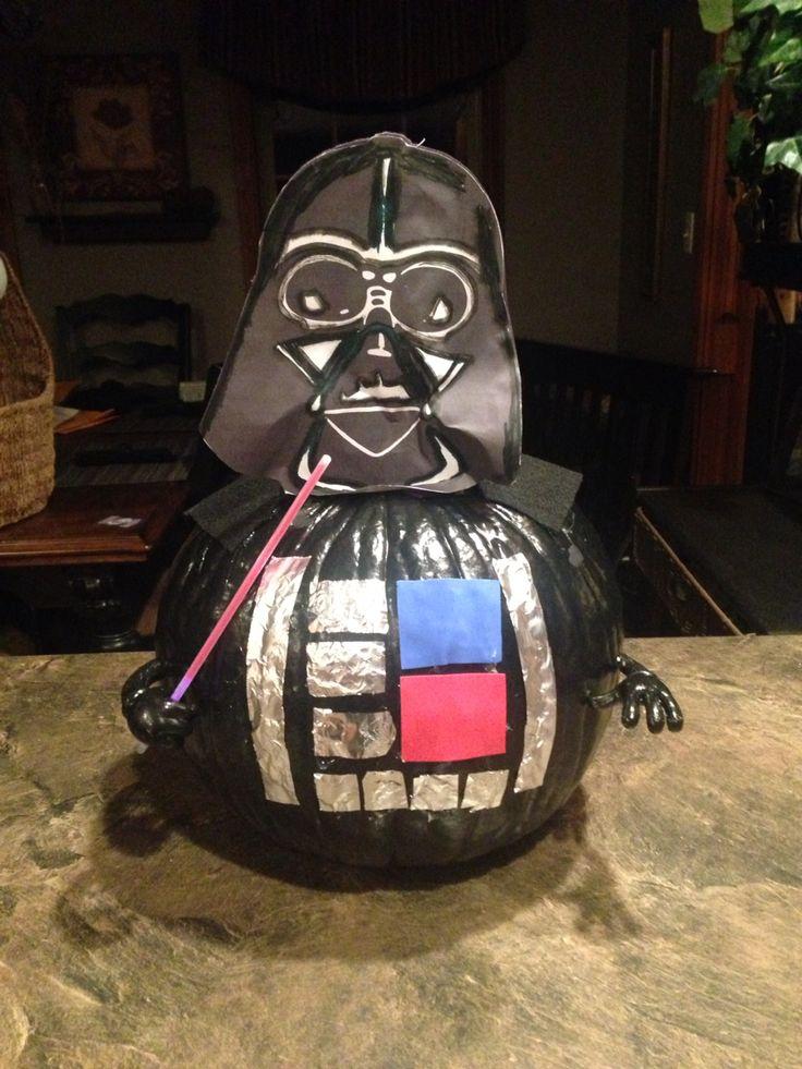Darth Vader book character pumpkin