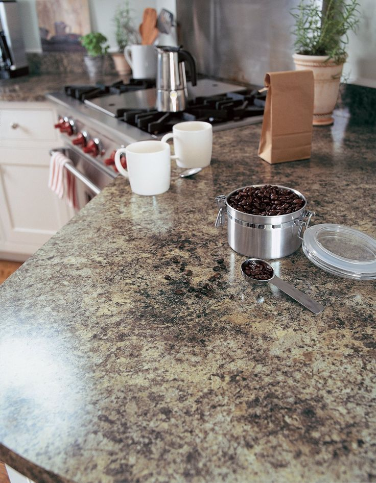 Imagine Making Your Cup Of Coffee On A FormicaR Laminate 7734 Jamocha Granite Countertop