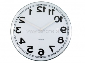 Zegar ścienny KARLSSON Dome Backwards biały  http://www.citihome.pl/zegar-scienny-karlsson-dome-backwards-bialy.html
