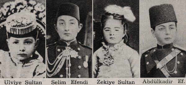 [Ottoman Empire] Chidren of Sultan Abdulhamid II; Ulviye Sultan, Selim Efendi, Zekiye Sultan, Abdülkadir Efendi