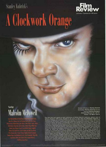 A fantastic Film Review poster from Stanley Kubrick's 1971 dystopian movie A Clockwork Orange! Includes cast/crew info and a synopsis. Published 2003. Ships fast. 23x34 inches. Need Poster Mounts..? b