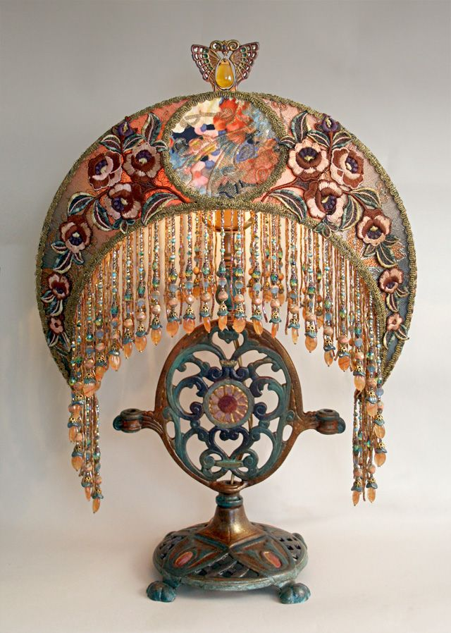 Gypsy:  #Bohemian lamp.