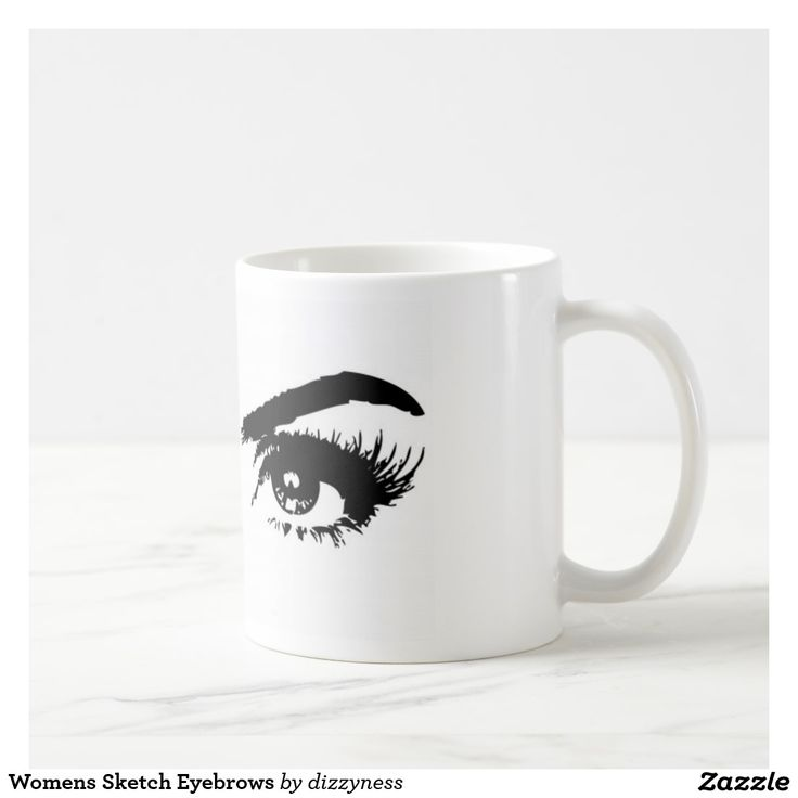 Womens Sketch Eyebrows Coffee Mug
