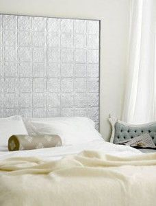 Ceiling Tile Headboard. I Wanna Try This.