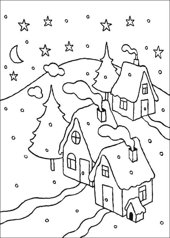 21 disegni di paesaggi invernali da colorare day of the