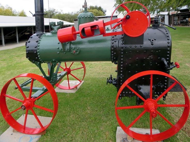 A 1924 Case mobile steam engine on display at the Busselton Museum in Busselton, Western Australia.