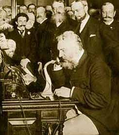 """Mar. 10, 1876, Alexander Graham Bell makes the first phone call in Boston, MA, to his assistant in the next room who heard """"Mr. Watson, come here."""""""