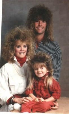 ya.... my hair looks like that too when I wake up with it curly and down. Maybe you should have showered before family picture day?