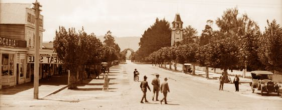 How Arawa Street used to look - this photo is one of many to be found on the 2nd floor at the Rotorua District Library