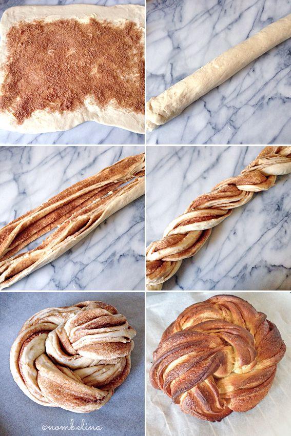 Cinnamon Wreath - Braided Bread with Cinnamon and Sugar - Nombelina's Foodblog