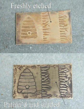 Acid etching tutorial. need muriatic acid, peroxide & baking soda. - mordente per incidere: materiali necessari   acido muriatico, perossido e bicarbonato di sodio
