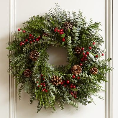 Fragrant Berry Wreath #williamssonoma
