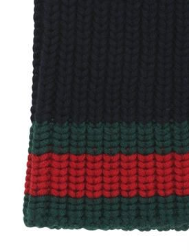 gucci - herren - kopfbedeckung - beaniemütze aus wolle im zopfstrick