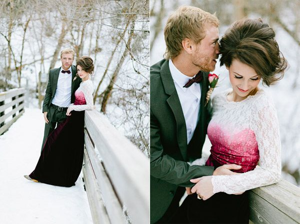 Magical Valentine's Love Shoot In The Snow