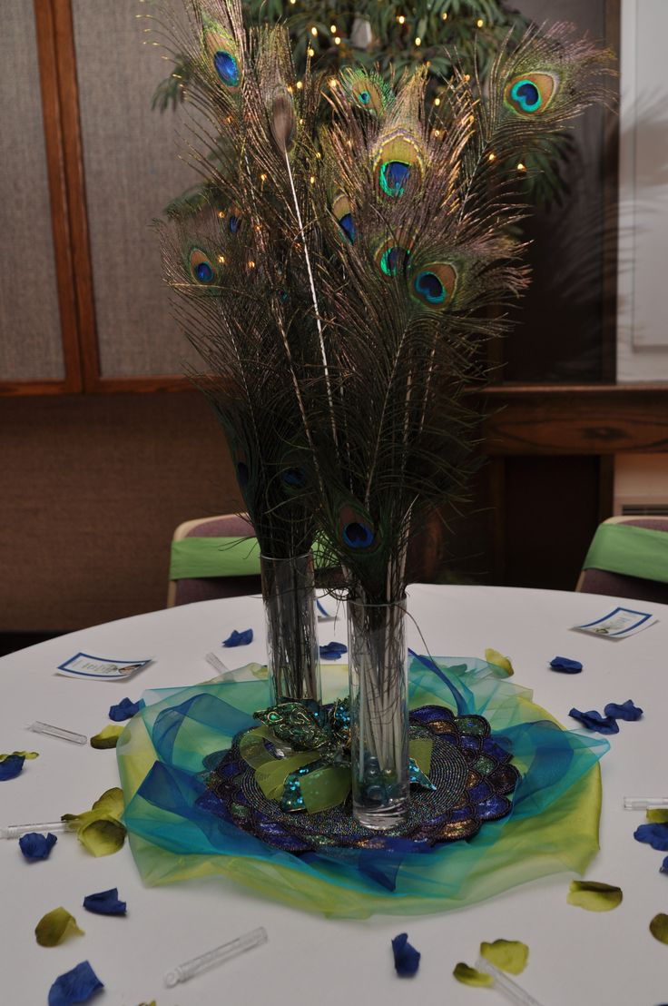 Peacock Feather Centerpiece Ideas : Best peacock centerpieces ideas on pinterest