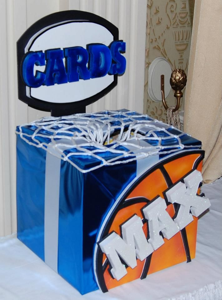 Themed Gift Box Ideas : The best images about basketball themed wedding on