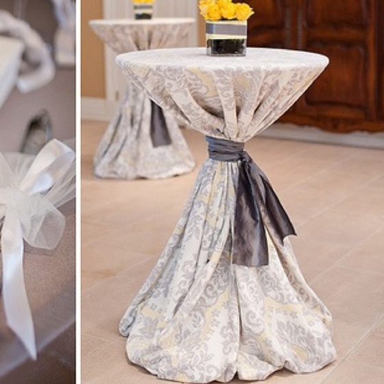 Bar Table Linens In A More Rustic Palette Would Be Great As Transitional Ceremony Decor Tail Tables Wedding Ideas 2018 Pinterest