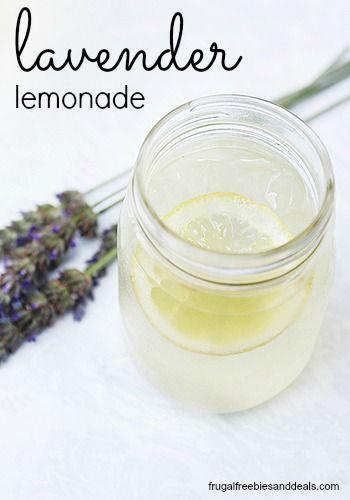 Lavender Lemonade- yummy and refreshing.