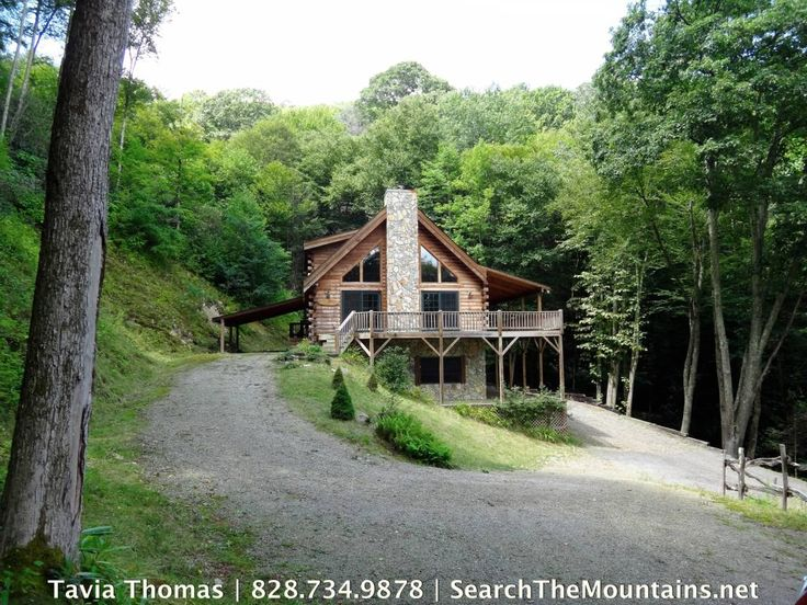 Horse Property for sale in Haywood County in North Carolina. Got horses? This beautiful upscale and spacious log home w/open floor plan and cathedral ceilings sits on a very private 3.45 acres w/ fenced pasture, babbling brook and 4-stall barn with H2O & electric. Home has generous wraparound deck to enjoy sights/sounds of the tumbling creek. Ride from the property to trails in the nearby Great Smoky Mountain National Park. Cataloochee Ranch/Ski Area is just up the road.