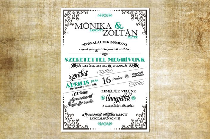 Vintage wedding invitation, border wedding invitation, Vintage wedding border, green wedding invitation