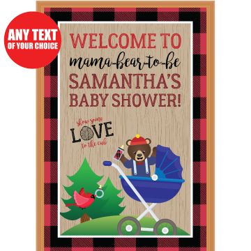 Canadian Lumberjack Baby Shower PERSONALIZED Giant Door Sign Party Supplies Canada - Open A Party