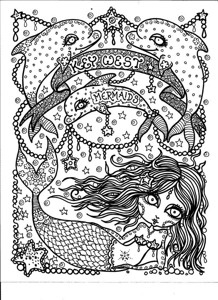 Mermaid Coloring Pages Adults