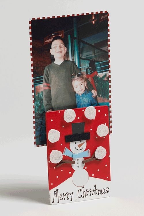 Kids holiday photo holder for kids to make as parent gift for Edible christmas gifts to make in advance