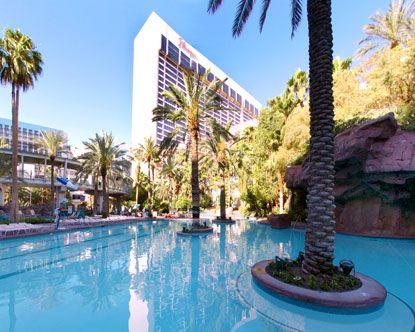 the flamingo hotel pool, best pool in vegas