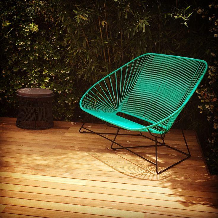 Canape Acapulco ou #fauteuilacapulco 3 places chez Marion avec une superbe terrasse.