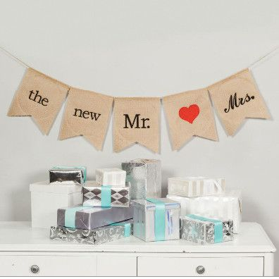 The New Mr and Mrs Wedding Banner