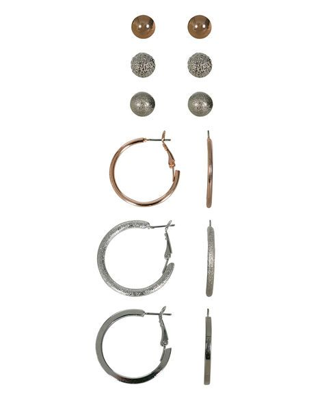 Mixed Metal Earring Set