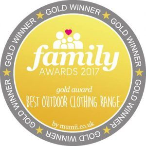GOLD for best outdoor clothing range!