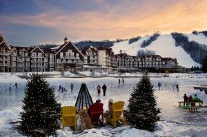 Where To Stay comes with skiing and skating!  It's a romantic retreat.