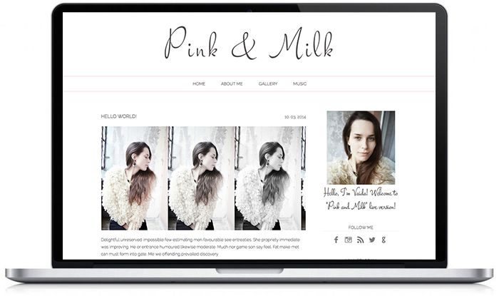 Pre-made #wordpress & #blogger templates can be purchased here: www.etsy.com/... ! #bloggers #blog #theme #design #web #graphic #layout #simple #minimal #pastel #pink #grey #handwritten www.donttellanyone.net