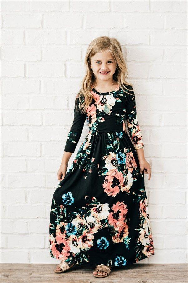 168a57589 Kids  Floral Maxi Dress