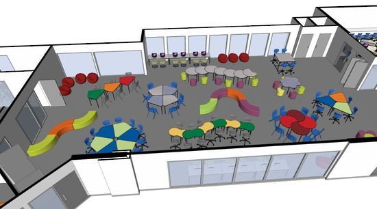 Modern Classroom Environment ~ Pin by glenn hardy on flexible learning spaces pinterest