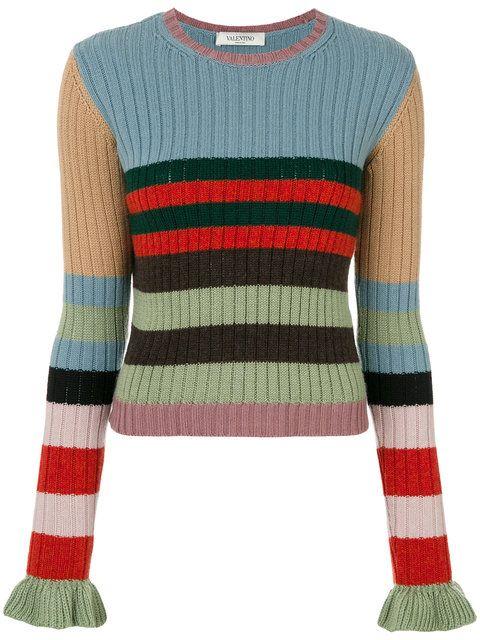 VALENTINO Striped Sweater. #valentino #cloth #sweater