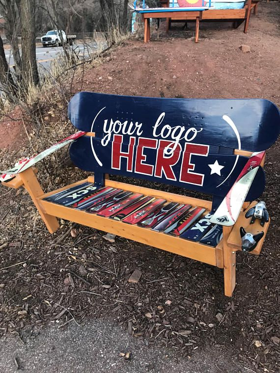Your Logo Custom Bench Personalized Wood Bench Adirondack Etsy In 2020 Custom Woodworking Projects Custom Benches Chairs Logo