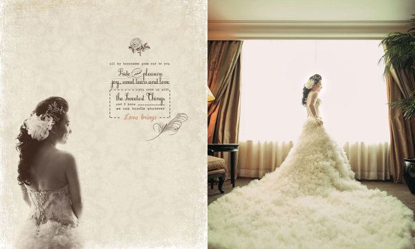Wedding Day Album Design , photo by HOP by Wenny Lee, via Behance