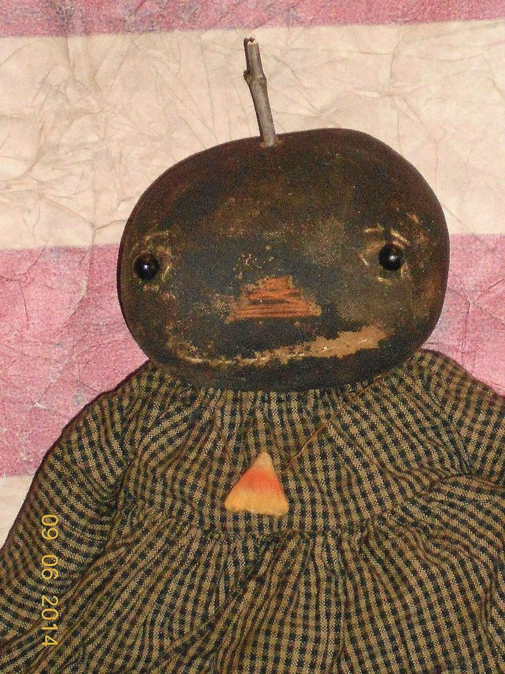 Primitive Pumpkin Halloween Doll--942 #NaivePrimitive #myself