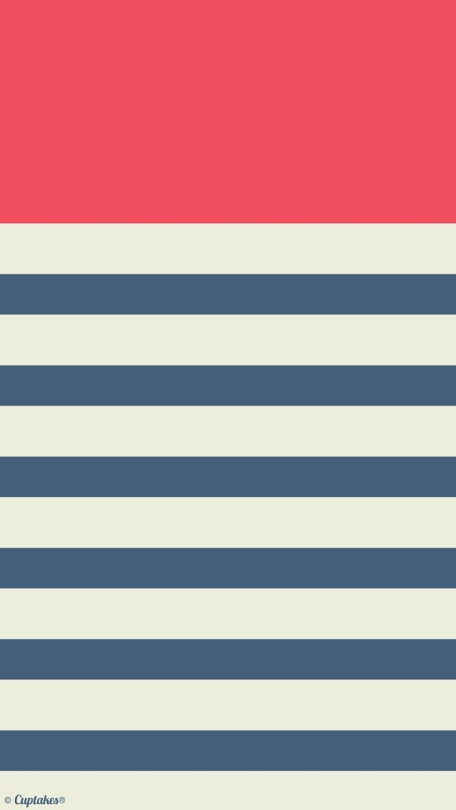 Pink navy stripes iphone wallpaper background