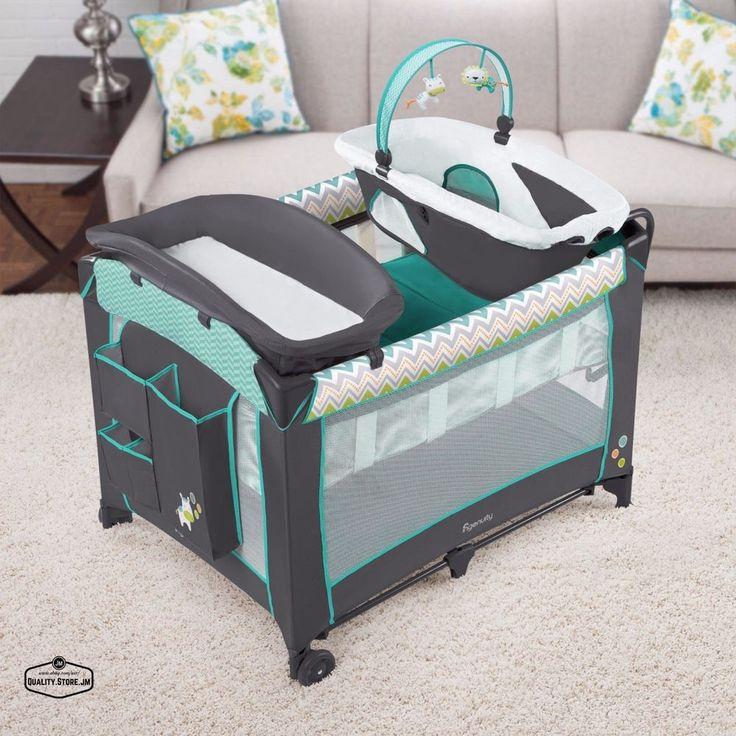 Changing Table Set Portable Baby Furniture Play Playards Basset Crib Boy Girl BabyChangingTable