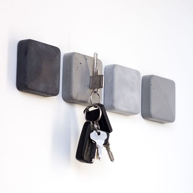 Magnetschlüsselhalter aus Beton Magnetschlüsselhalter aus Beton #WoodWorking