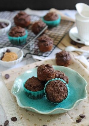 My chocolate muffins recipe with peanut butter and coffee is the best, but because they are gluten free and sugar free, they are better for you.